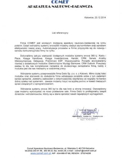 COMEF APARATURA NAUKOWO-BADAWCZA